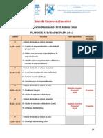 Plano de Atividades - PLEM - CEDERJ - 2013