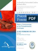 Flyer Jornada Psicologia Forense