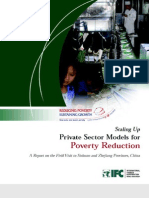 Scaling Up Private Sector Models for Poverty Reduction