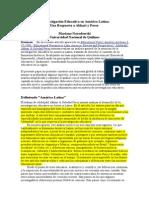 04 Investigación Educativa America - Narodowski