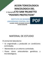 Investigacion Toxicologica y Farmacologica Del Producto Saw Palmetto