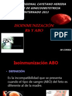 Isoinmunizacion Abo - Rh