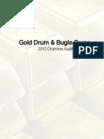 Gold Drumline Audition Packet 2012