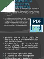 MECANISMO DE LA CONDUCCIÓN ELECTROLITICA