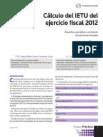 Calculo Anual Ietu 2012