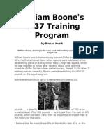 William Boone`s 1937 Training Program
