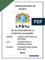 el alcoholismo en la juventud jualiqueña