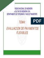 Evaluación de Pavimentos