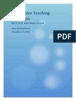 summative teaching reflection