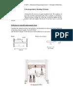 Beam Bending Lab Sheet and Short Report Sheet