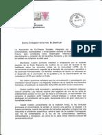 Carta de la Asociación Ex Presos Sociales al embajador de la India en España