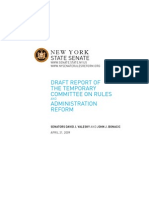 Rules Reform Draft Report 4-21-09