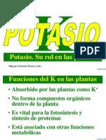 Potasio. Su Rol en Las Plantas