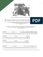 Teacher Motivation and Job Satisfaction Survey