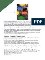 Painting Companies Virginia Beach