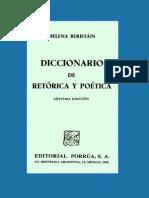 Helena Beristain Diccionario Retorica y Poetica