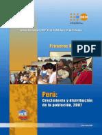 Censos Nacionales 2007, XI de población y VI de vivienda - Primeros Resultados