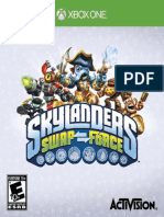 SKYLANDERS SWAP Force Xbox One GAME MANUAL