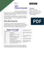 Sheet Set Mgr Sheetlist