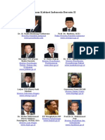 Berikut Susunan Kabinet Indonesia Bersatu II Selengkapnya