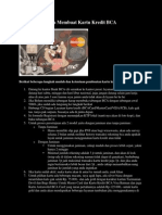 Cara Membuat Kartu Kredit