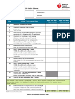 CPR AED Skills Sheet