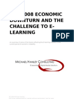 The 2008 Economic Downturn and the Challenge to E-learning