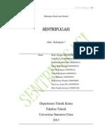 makalah sentrifugasi (kelompok 7)