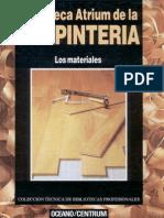 Carpinteria Tomo I. Los Materiales. Biblioteca Atrimun