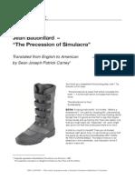 """Jean Baudrillard - """"The Precession of Simulacra"""""""