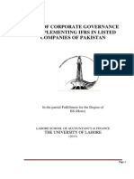 Role of Corporate Governance in Implementing IFRS in Listed Companies of Pakistan