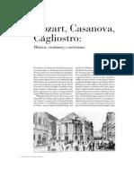 M o z a Rt, Casanova, Cagliostro