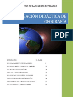 Planeacion Didactica Geografia 2011B