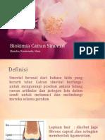 Biokimia Cairan Sinovial