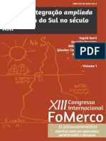 E-book FoMerco 2012 - Por uma integração ampliada - Volume 1 final