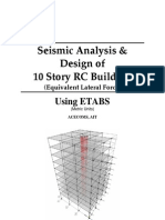 Seismic Analysis & Design of 10 Story RC Building (Equivalent Lateral Force)