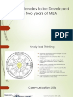 Competency to Develop for MBA's