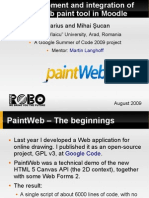 The development and integration of the PaintWeb paint tool in Moodle