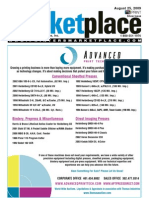 Printers' Marketplace, August 25th 2009