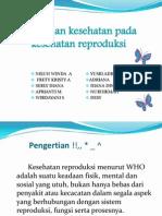 Pelayanan kesehatan pada kesehatan reproduksi