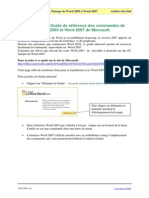 Guide_commandes_Word 2003 a 2007