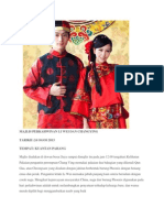 Pakaian Pengantin Perempuan Biasanya Memakai Pakaian Dua Bahagian Yang Dikenali Qun Gua