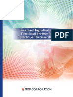 Functional Ingredients & Formulated Products for Cosmetics and Pharmaceuticals