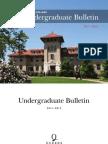 Undergraduate Bulletin 2011 12