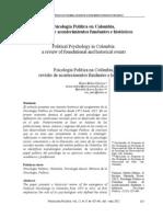 Valencia, Nelson Molina., & Escobar, Marinella Rivera. (2012). Psicología Política en Colombia