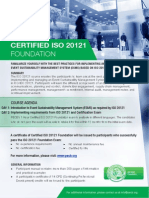 ISO 20121 Foundation - One Page Brochure