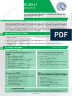 ISO 20121 Lead Implementer - Two Page Brochure