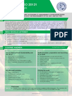 ISO 20121 Lead Auditor - Two Page Brochure