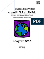 Kunci Jawaban Soal Prediksi UN Geografi SMA 2013
