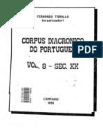 Corpus Diacronico Do Port. Vol. 8 Sec. Xx